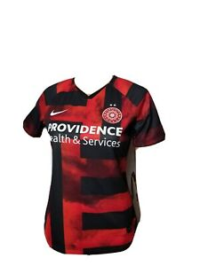 Nike Soccer Football Jersey Womens Portland Thorns Small Red Black Dri Fit NWT