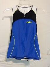 Louis Garneau Women's Comp Sleeveless Triathlon Top Medium Black/Blue