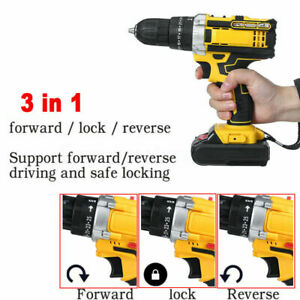 48V 1 Batteries Cordless Drill Kit Electric Drill Hammer Driver Repair tool