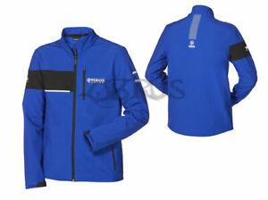 Genuine Yamaha 20 Paddock Blue Adult Mens Blue & Black Softshell 'Leeds' Jacket