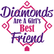 Diamonds are a Girl's Best Friend Iron-On Transfer w/FREE Personalization