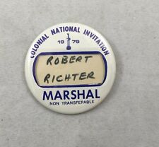 1979 Marshall Fort Worth Colonial National Invitation Golf Pin