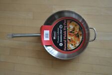 "Brand New Winco 12"" Premium Collection Stainless Steel Natural Finish Fry Pan"