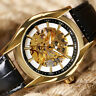 WINNER Golden Women Men Skeleton Mechanical Automatic Wrist Watch Luxury Gift