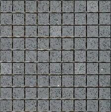 Grey Starlight Stardust Quartz Mirror Fleck Mosaics Sheet Tile Splashback