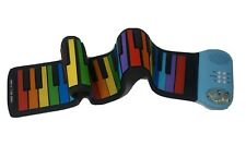 ROLL UP PORTABLE KIDS toy PIANO flex keyboard rainbow color