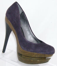 Jessica Simpson 'Colie' purple leather round toe suede platform heel 6B