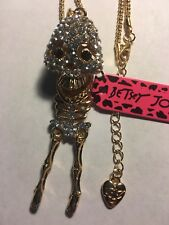 Betsey Johnson Lovely Skeleton NECKLACE W-MOVABLE PARTS-BJ10576