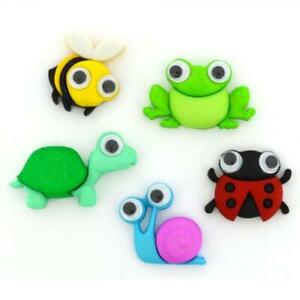 Wild and Wacky Novelty Plastic Buttons/DIY Sewing & Craft Supplies/Dress it Up