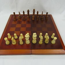 Cardinal Chess Set Redwood Inlaid Board & Wood Pieces Folding Only chess piece