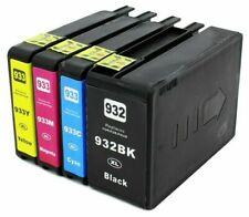 4 cartuchos COMPATIBLES para HP Officejet 6600 HP Officejet 7110 HP 932XL  933XL