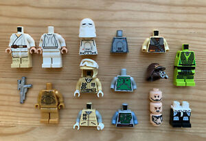 Lego Star Wars *Damaged* OT Minifigure Parts Lot: Boushh Leia Oola Lando Boba+