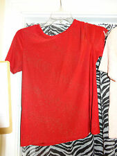 JACLYN SMITH Ladies Womens Top Blouse Red & Gold Beading Size Medium