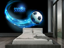 Football Soccer Blue Ball Wall Mural Photo Wallpaper GIANT WALL DECOR