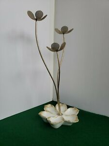 Mid Century Modern Style Ceramic And Metal Table Decor