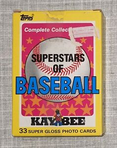 1989 Topps/Kaybee Super Stars of Baseball 33-Card Complete Boxed Set