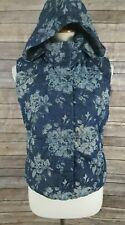 Gap Winter Warmth Outdoor Edition Floral Denim Puffer Vest Size XS Petite