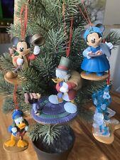 Disney Christmas Ornament 5pc Set Mickey Mouse A Christmas Carol's PVC