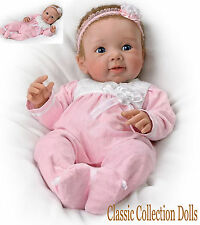 "Ashton Drake ""ADORABLE ADDISON"" -LIFELIKE BABY GIRL DOLL-NEW-HAND ROOTED HAIR!"