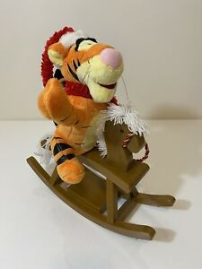 Gemmy TIGGER PLUSH MUSICAL ROCKING HORSE-Winnie The Pooh Character