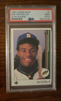 1989 Upper Deck Star Rookie #1 Ken Griffey Jr. Mariners RC HOF PSA 9 (OC)