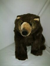 "Dakin Ian Spectacle Grizzly Bear Plush RARE Lou Rankin Friend Stuffed Animal 10"""