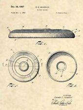 Official Frisbee US Patent Art Print - Wham-O Flying Saucer Disc Original 373