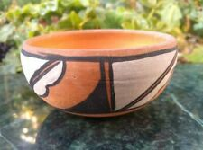 More details for vintage 1980s native american pottery bowl signed handmade art studio pottery