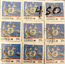 1988 Australian $.39 Stamps Little Grebe - Approx. 900 Canceled Stamps