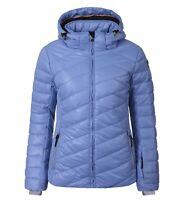 Daunenjacke Skijacke Damenjacke ICEPEAK CELESTE, Kapuze, blau, warm, Größe 42