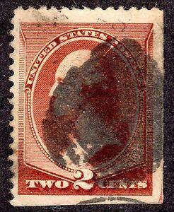 US # 210 (1881) 2c Used - VF/XF-EFO Guide Arrow 1/200 w/Creepy Canc {the CLAW}
