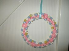 Tricot porte/commode couronne double face. Mariage Baby Shower