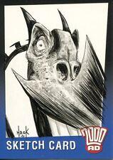 2000 AD Judge Dredd Sketch Card By Robert Hack Dragon