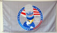 Natty To The Moon Natural Light Beer Banner Flag 3x5Feet Man Cave