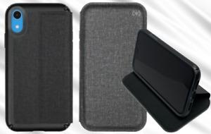 Genuine Speck Presidio Folio Wallet Case Cover for Apple iPhone XR Black