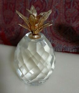 Preciosa Crystal Gold Leaf PineappleFinest Bohemian Crystal from the Czech Rep