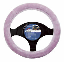 Girly Pink Fluffy Furry Velour Interior Car Steering Wheel Cover Glove (2505059)