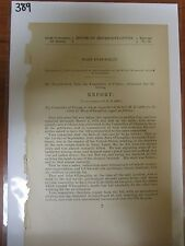 GOV Bericht 1878 John Mary Loughlin monetären Relief Derrick Unfall Tod #389