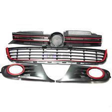 SET OF 4PCS BLACK RED FRONT MESH GRILLE GRILL FIT FOR VW GOLF 6 VI MK6 2010-2012