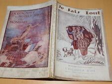 1919 ancien REVUE je sais tout L'ESCALIER D'OR jaloux DIRIGEABLE R.32-33-34