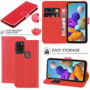 For All Samsung Galaxy S10 S8 A10 A70 A21S A11 Magnetic Leather Flip Wallet Case