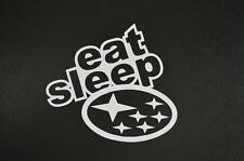 Eat sleep Subaru STI WRX BRZ car truck funny window sticker vinyl decal #358