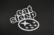 Eat sleep Subaru STI WRX BRZ car truck funny window sticker vinyl decal #358