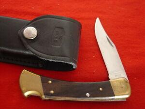 "Buck USA FOLDING HUNTER 110 5"" Lock Blade 1996 Lockback Knife & Sheath"