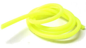 Fluorescent Solid Yellow Silicone RC Nitro Glow Fuel Line Tube Pipe 1 Meter 1/10