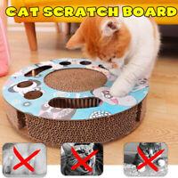Pet Cat Scratcher Interactive Catnip Toys Scratching Cardboard with Balls L