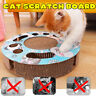 Pet Cat Scratcher Interactive Catnip Toys Scratching Cardboard with Balls