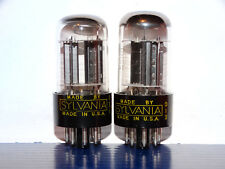 2 x 6SN7gtb Sylvania Tubes*Black Plates*Halo-Getter*Very Strong*