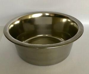 """Silver Pet Bowl Sizes 4.25"""" 5.5"""" 11"""" 13.75"""""""