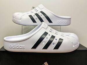 New in Box Adidas Adilette Clog Unisex White/Black Men's 9 / Women's 10